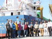 بالصور .. وصول سفينة محملة بـ12 طرد لمحطة كهرباء البرلس بكفر الشيخ