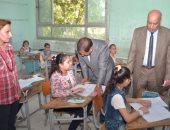 محافظ الغربية يتفقد سير امتحانات الشهادة الابتدائية بمدارس طنطا