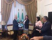 قنصل بريطانيا بالاسكندرية تزور لأكاديمية العربية للعلوم والنقل البحرى