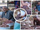 البلح يغزو الأسواق قبل رمضان.. والأسعار فى متناول الجميع