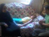 """""""أم مصطفى"""" تناشد وزير الصحة علاج ابنها المصاب بضمور فى المخ على نفقة الدولة"""