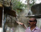 بالصور.. حى المطرية ينفذ حملة مكبرة لإزالة الإشغالات وغلق المقاهى المخالفة
