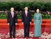 بالصور.. الرئيس الروسى فلاديمير بوتين يلتقى الرئيس الصينى ببكين