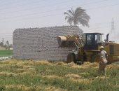 بالصور .. إزالة 3762 متر تعديات على الأراضى الزراعية ببنى سويف