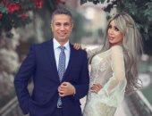 """""""فوتوسيشن"""" جديد من زفاف المتحدث العسكرى السابق على إيمان أبو طالب"""