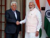 """بالصور.. الرئيس الفلسطينى يلتقى نظيره الهندى فى زيارة رسمية لـ""""نيودلهى"""""""