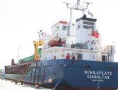 بالصور .. وصول سفينة محملة بـ12 طردا لمحطة كهرباء البرلس بكفر الشيخ