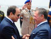 الرئيس السيسى يؤكد لملك الأردن أهمية التنسيق والتشاور بين البلدين