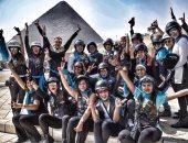 بنات مصر يحصدن المركز الأول فى اليوم العالمى لقائدات الدراجات البخارية