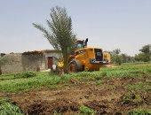 إزالة تعديات على أراضى ملك الدولة بمركز أبنوب والفتح بأسيوط