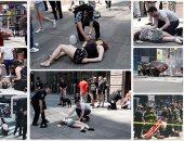 """""""ليلة الدهس فى نيويورك"""".. مقتل شخص وإصابة 23 آخرين وسط ميدان تايمز سكوير.. قتيل و11 جريحا فى """"ستاتن أيلاند"""".. البيت الأبيض يبلغ """"ترامب"""" بالواقعة.. الشرطة: لا شبهه إرهابية.. وسائل إعلام: مرتكب الحادث يعمل بالجيش"""