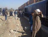 """إصابة 12مواطنا فى تصادم قطار بنها بـ """"المصدات"""" على شريط السكة الحديد"""