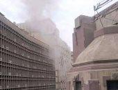 مدير أمن القاهرة ينتقل لموقع حريق مبنى تأمينات وسط البلد