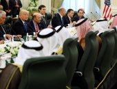 بالصور.. بدء قمة الملك سلمان والرئيس الأمريكى ترامب فى قصر اليمامة بالرياض