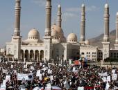 بالصور.. الحوثيون يتظاهرون بالأسلحة فى العاصمة اليمنية صنعاء