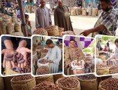 """أسواق البلح  ترفع شعار """"رمضان جانا"""""""