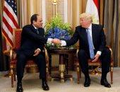 السيسي وترامب يتفقان على مواجهة الدول الممولة للإرهاب ماديًا أو معنويًا