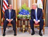 """السيسى يلتقى ترامب فى قمة """"مصرية - أمريكية"""" بالرياض"""