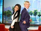 """نيكى ميناج ضيفة برنامج """"The Ellen DeGeneres Show"""""""