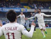 الإعلام الإيطالى يختار محمد صلاح أفضل لاعبى روما أمام كييفو
