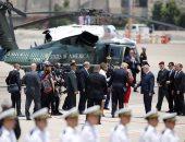 بالصور.. الرئيس الأمريكى ترامب يغادر مطار بن جوريون متجها إلى القدس المحتلة