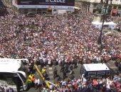 احتفالات عارمة فى شوارع مدريد بلقب الليجا الإسبانية
