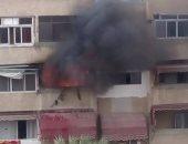 انتداب المعمل الجنائى لمعاينة حريق نشب داخل شقة سكنية فى مصر القديمة