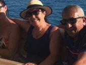 بالصور ..أسرة كريستيانو رونالدو تنهى رحلتها فى الغردقة برحلة بحرية بجزيرة الجفتون