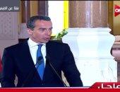 المستشار النمساوى يجرى لقاء تليفزيونيا مع قناة النيل للأخبار