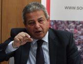 وزير الرياضة يتفقد استاد الإسكندرية استعداداً للبطولة العربية