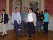 """بالصور.. فاروق حسنى يزور """"مجمع الفنون بالزمالك"""": """"عرض بديع"""" وتحديات كبيرة"""