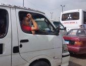 النشرة المرورية: كثافات مرتفعة بمعظم محاور وميادين القاهرة والجيزة