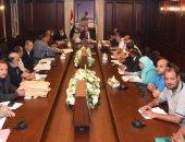 محافظ الإسكندرية يجتمع مع الجهات صاحبة الولاية على الأراضى المتعدى عليها