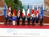 """بالصور.. قادة العالم يجتمعون بـ""""قمة السبع"""" لبحث ملفات الهجرة ومكافحة الإرهاب"""