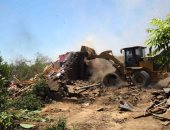 إزالة 3 حالات تعد على الأراضى الزراعية فى فارسكور بدمياط