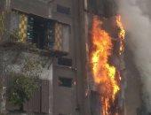 حريق هائل بمستشفى منوف العام والحماية المدنية تحاول السيطرة عليه
