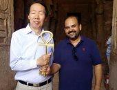 وزير الآثار الصينى والوفد المرافق له يزورون معابد أبو سمبل لدعم السياحة