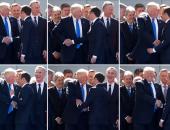 """""""بياخد بتاره"""".. شاهد """"ترامب"""" يرد """"السلام الحديدى"""" لنظيره الفرنسى"""