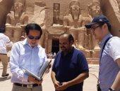 بالصور .. وزير الآثار الصينى يزور معبد أبو سمبل على رأس وفد رفيع المستوى