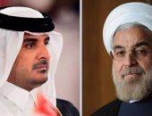 """الرئيس الإيرانى لـ""""تميم"""": """"مستعدون للتعاون معكم فى كل المجالات"""""""