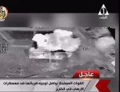 الجيش الأمريكى ينشر فيديو الضربة المصرية الأخيرة بالواحات ويعلق: ضربة دقيقة