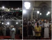 """وسط أجواء إيمانية برحاب الأزهر.. المصلون يؤدون """"التراويح"""" فى ثالث ليالى رمضان"""