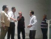 بالصور.. جمعان يعاين استاد الإسكندرية استعداداً لاستضافة دورى أبطال العرب