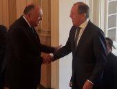 بالصور.. بدء مشاورات وزير الخارجية مع نظيره الروسى فى القاهرة