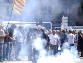 بالصور.. إضراب سائقى التاكسى فى مدريد ضد شركة النقل الخاصة أوبر