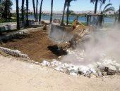 إزالة 20 حالة تعد على نهر النيل بمدينة جرجا فى سوهاج