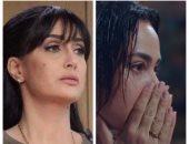 المؤثرتان.. غادة عبدالرازق أداء تمثيلى رائع وهند صبرى تبكى بحرقة أمام المرآة