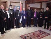 مطران الأقصر يستعرض نتائج زيارة الوفد الكنسى الإيطالى لمصر فى مؤتمر صحفى