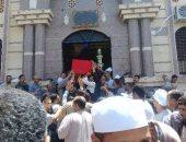 بالفيديو والصور ..سوهاج تودع شهيد سيناء فى جنازة عسكرية بجرجا