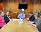 محافظ القليوبية يعقد إجتماعا لفتح منافذ جديدة لفروع شركة أمان بالقرى